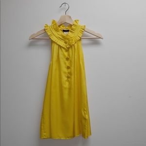 J. Crew Yellow Sleeveless Button Down Blouse XS